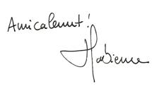 Signature Fabienne